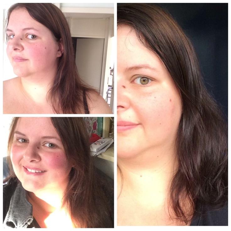Before, de rechterfoto is van een paar maand geleden, toen kwam ik ook net bij de kapper vandaan. De andere twee zijn recenter. Dit zijn wel de duidelijkste foto's van mijn haar zoals het was.