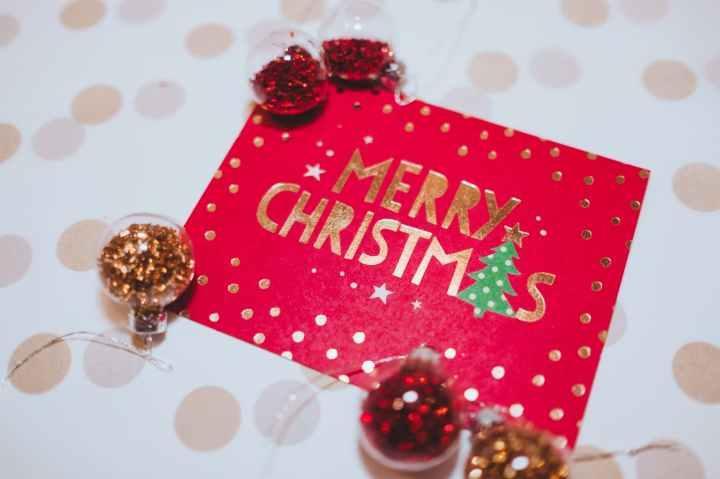 close up photo of christmas card